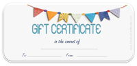 Image of a gift certificate